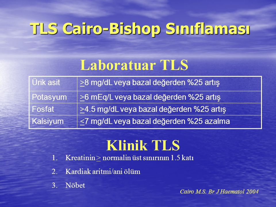 TLS Cairo-Bishop Sınıflaması