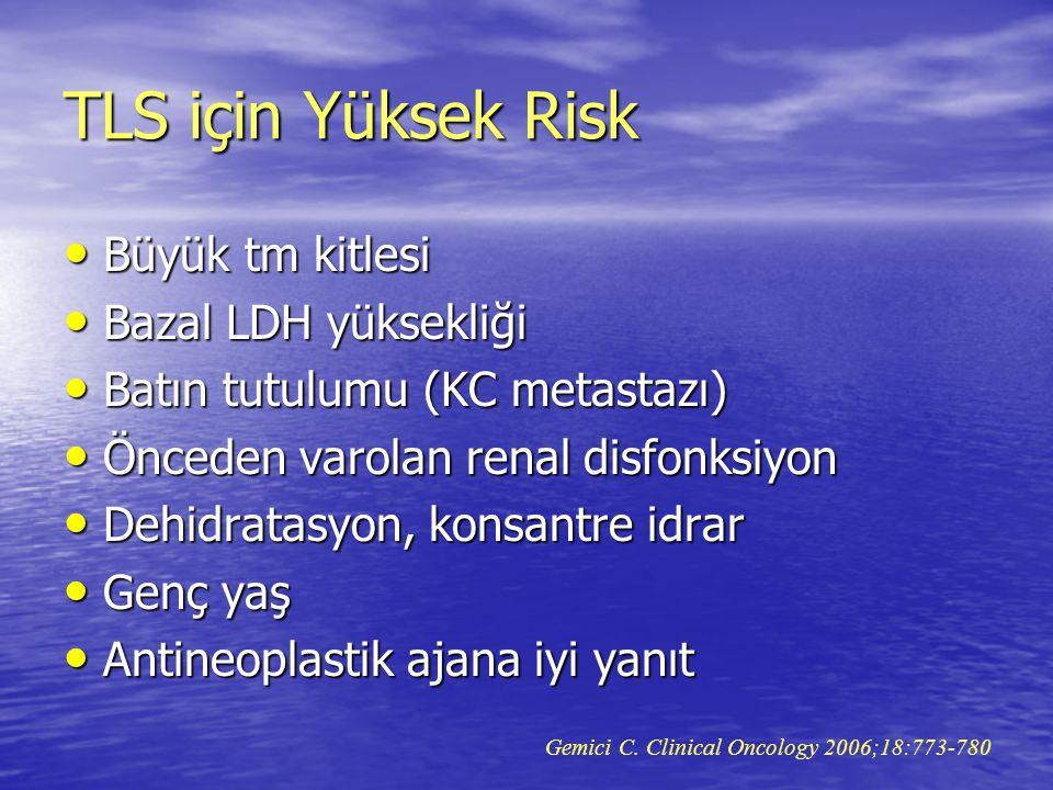 TLS için Yüksek Risk Büyük tm kitlesi Bazal LDH yüksekliği
