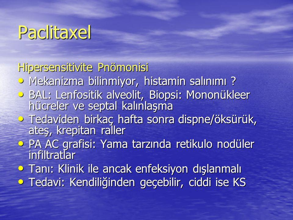 Paclitaxel Hipersensitivite Pnömonisi