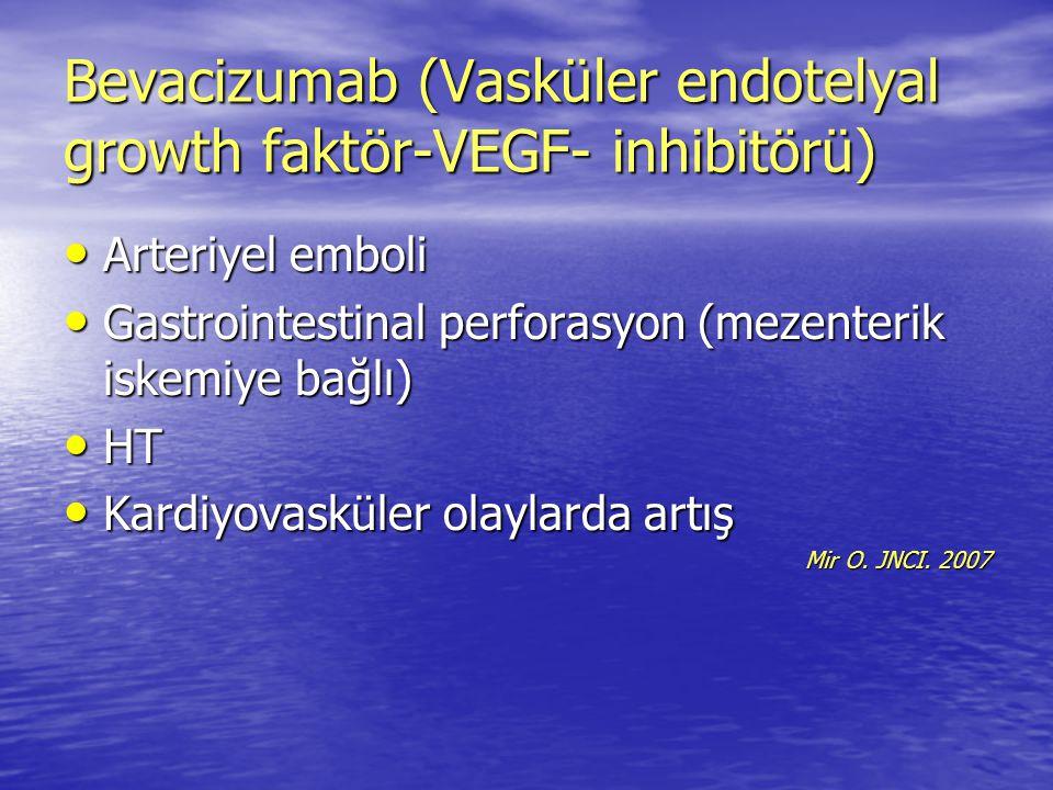 Bevacizumab (Vasküler endotelyal growth faktör-VEGF- inhibitörü)