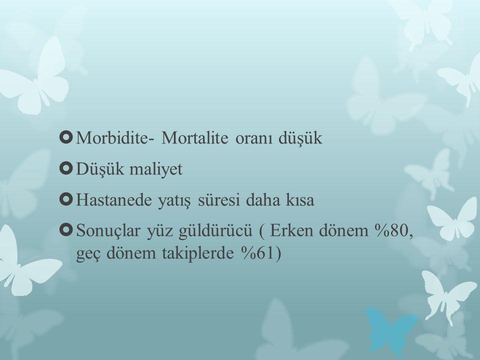 Morbidite- Mortalite oranı düşük