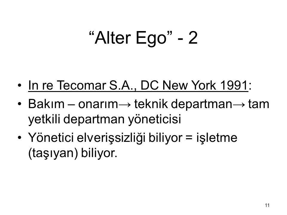 Alter Ego - 2 In re Tecomar S.A., DC New York 1991: