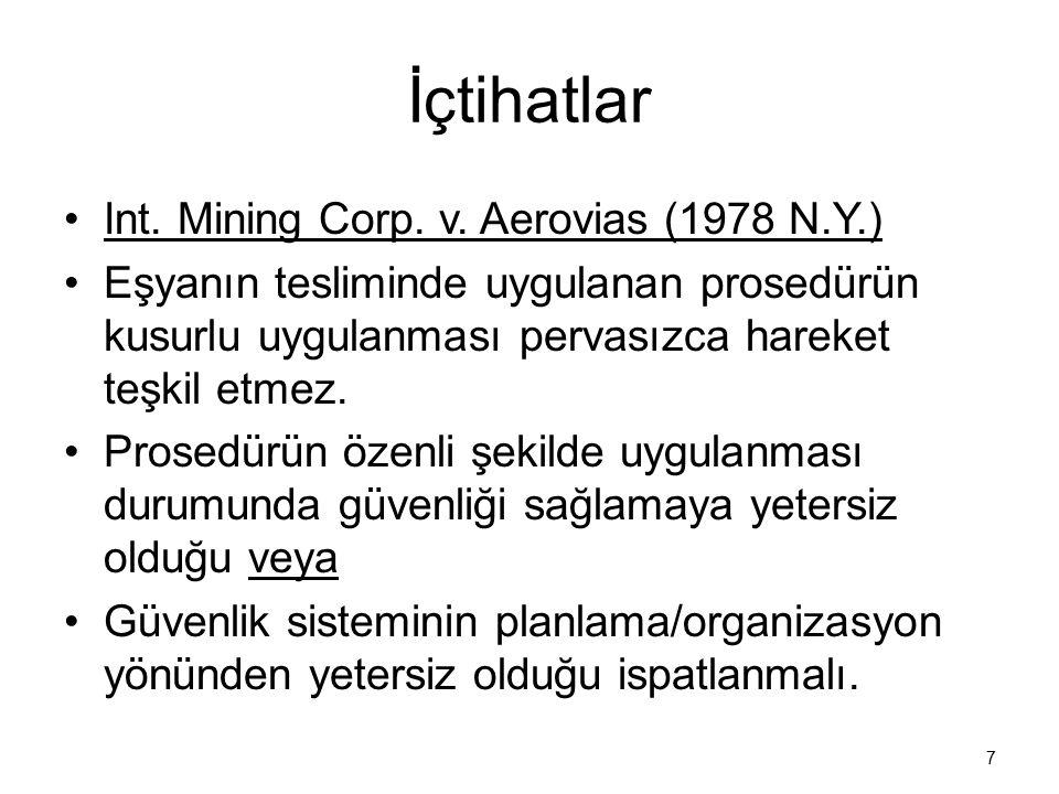 İçtihatlar Int. Mining Corp. v. Aerovias (1978 N.Y.)