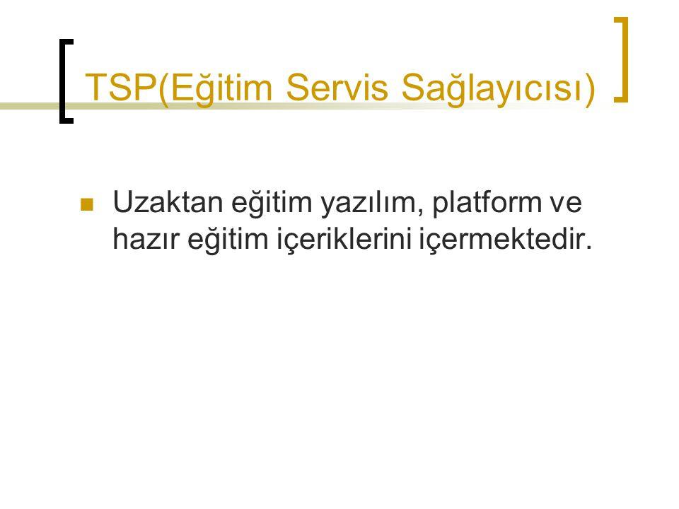 TSP(Eğitim Servis Sağlayıcısı)