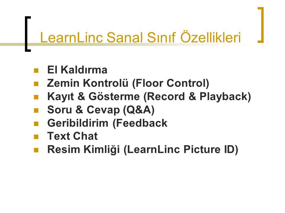 LearnLinc Sanal Sınıf Özellikleri