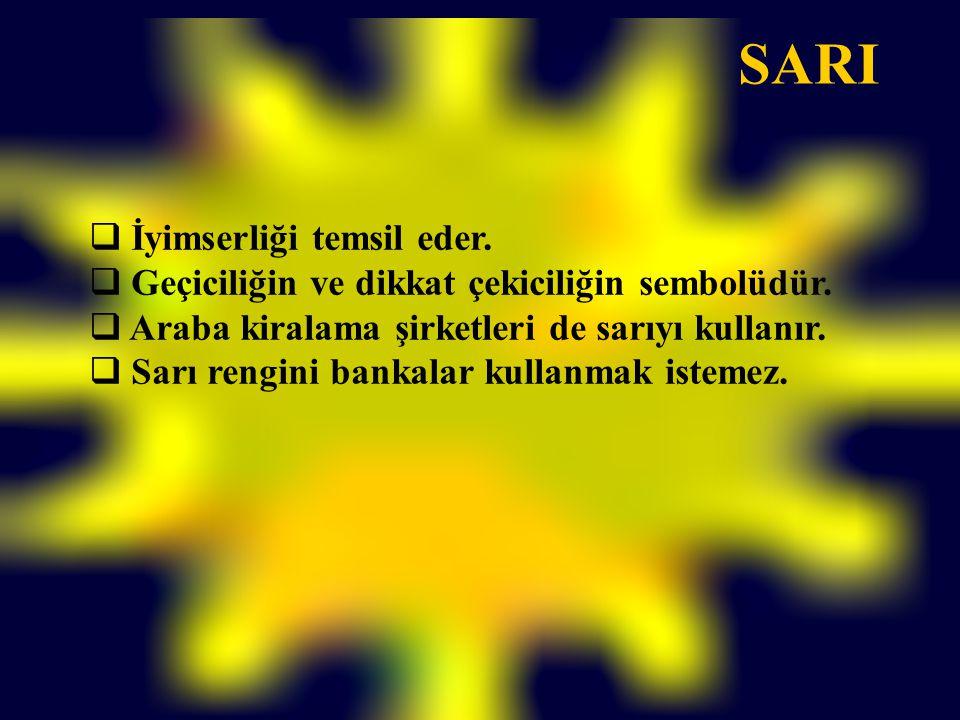 SARI İyimserliği temsil eder.