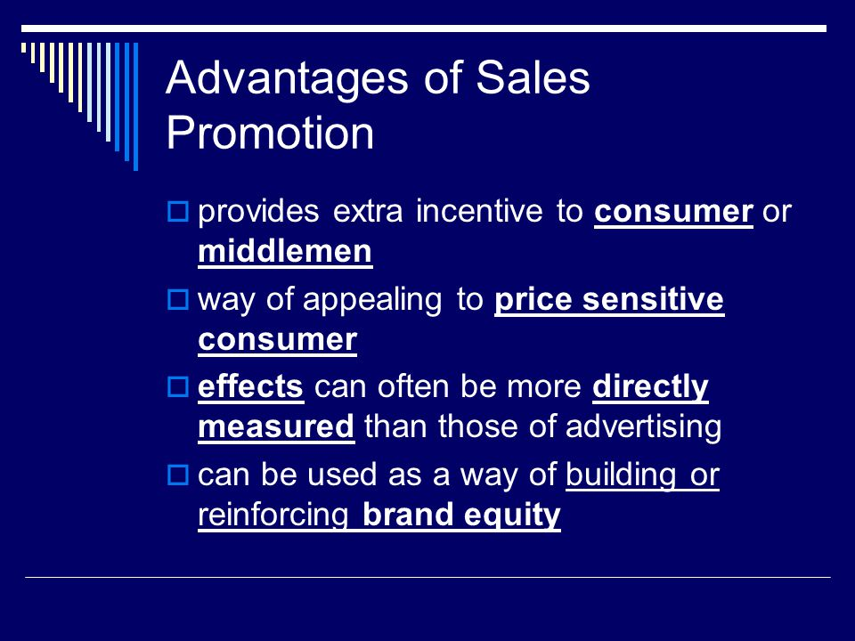 Advantages of Sales Promotion