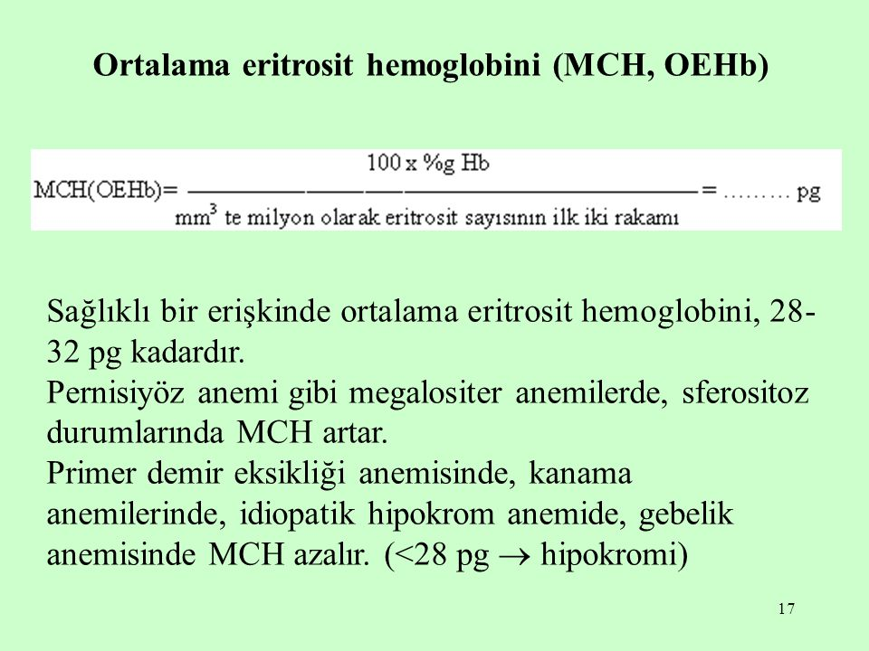Ortalama eritrosit hemoglobini (MCH, OEHb)