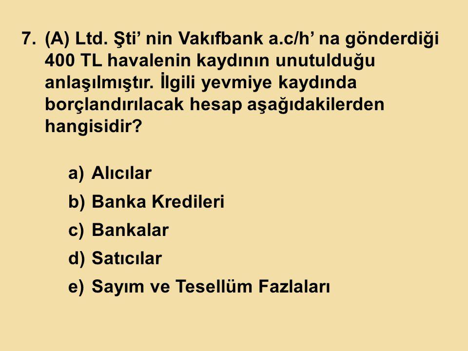 (A) Ltd. Şti' nin Vakıfbank a