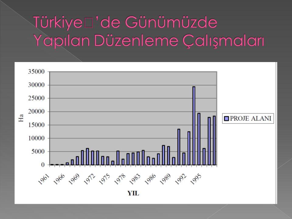 Türkiye''de Günümüzde Yapılan Düzenleme Çalışmaları