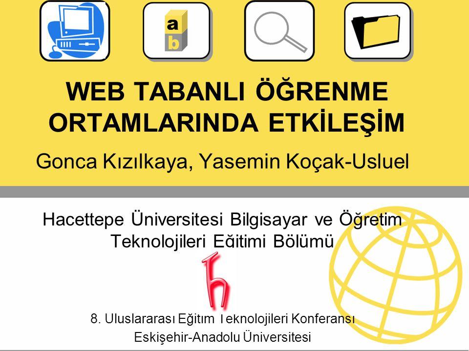 WEB TABANLI ÖĞRENME ORTAMLARINDA ETKİLEŞİM