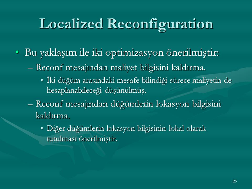 Localized Reconfiguration