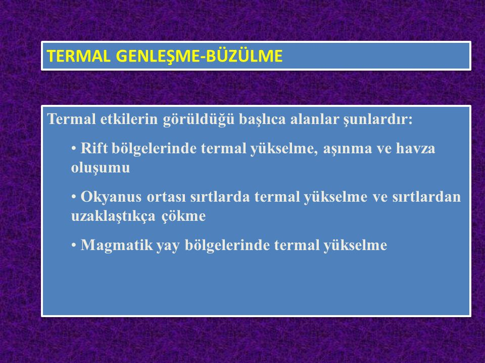 TERMAL GENLEŞME-BÜZÜLME