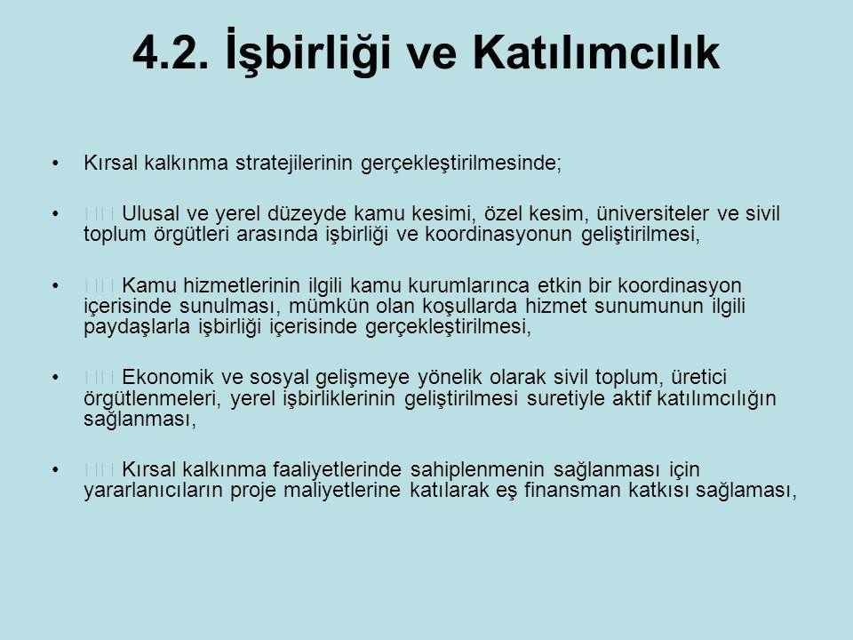 4.2. İşbirliği ve Katılımcılık