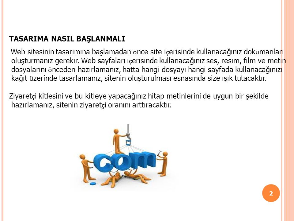 TASARIMA NASIL BAŞLANMALI