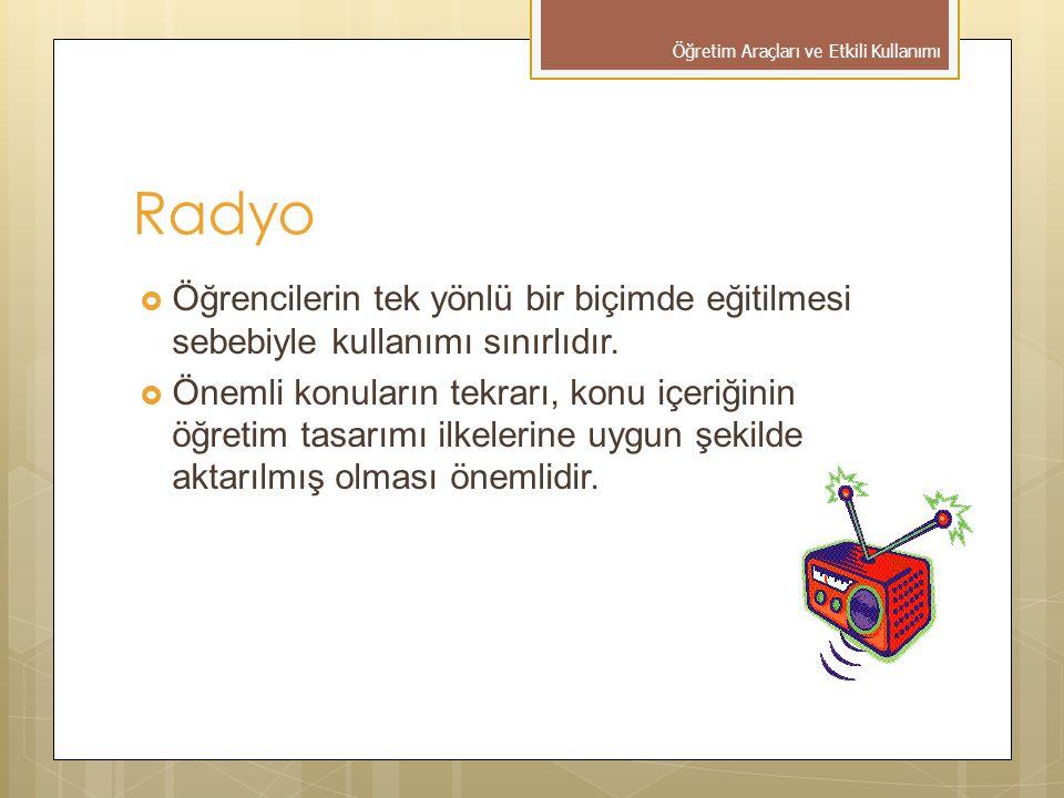 Öğretim Araçları ve Etkili Kullanımı