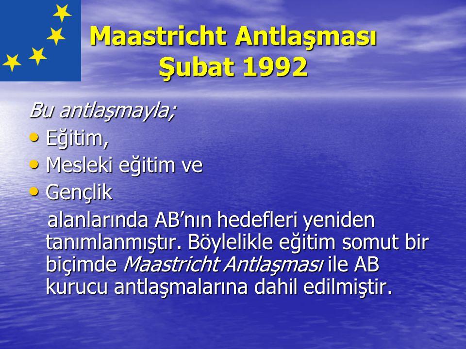 Maastricht Antlaşması Şubat 1992