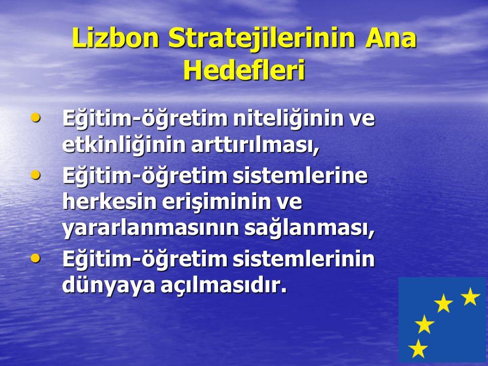 Lizbon Stratejilerinin Ana Hedefleri