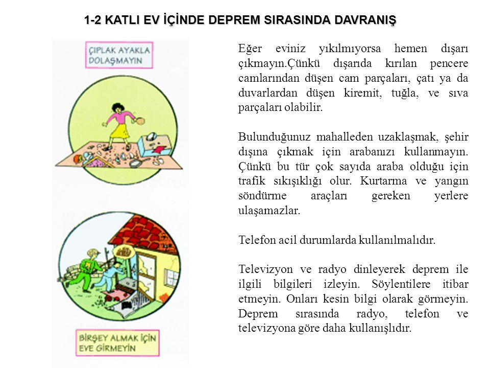 1-2 KATLI EV İÇİNDE DEPREM SIRASINDA DAVRANIŞ
