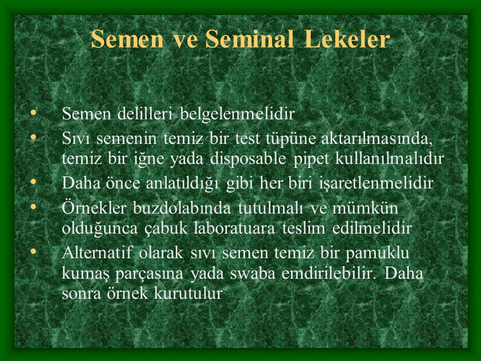 Semen ve Seminal Lekeler