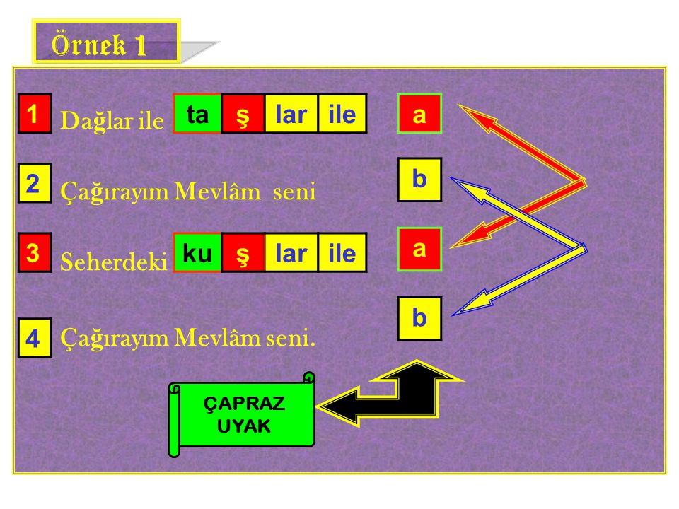 Örnek 1 1 ta ş lar ile a b 2 a 3 ku ş lar ile b 4 Dağlar ile