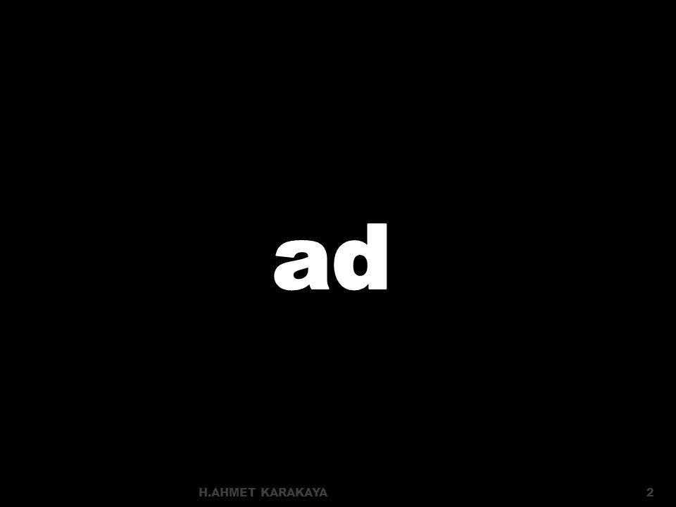 ad H.AHMET KARAKAYA