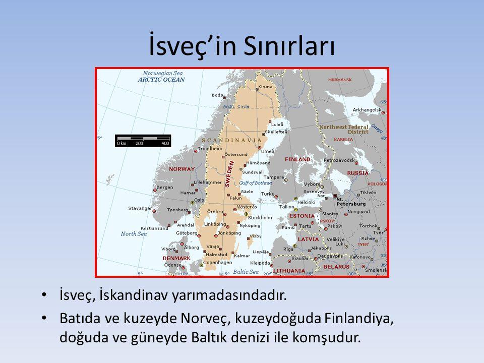 İsveç'in Sınırları İsveç, İskandinav yarımadasındadır.