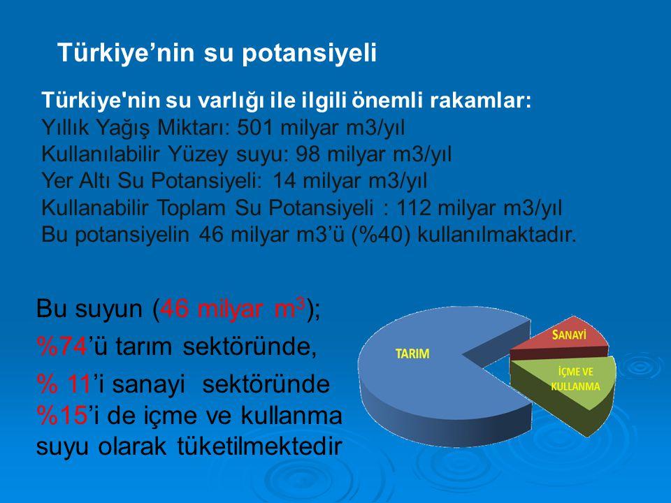 Türkiye'nin su potansiyeli