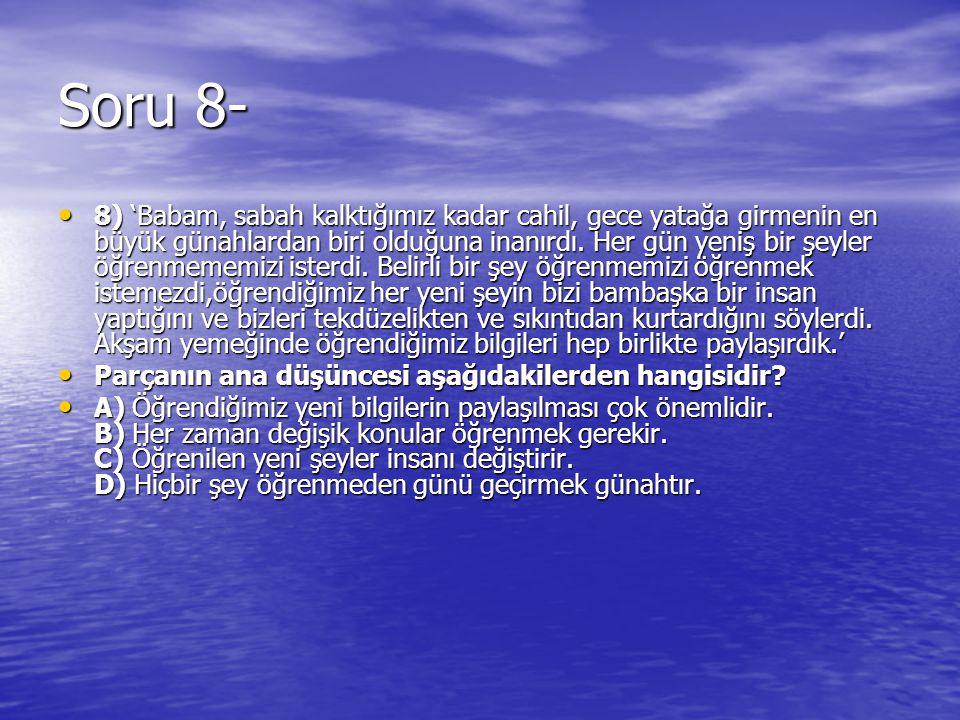 Soru 8-
