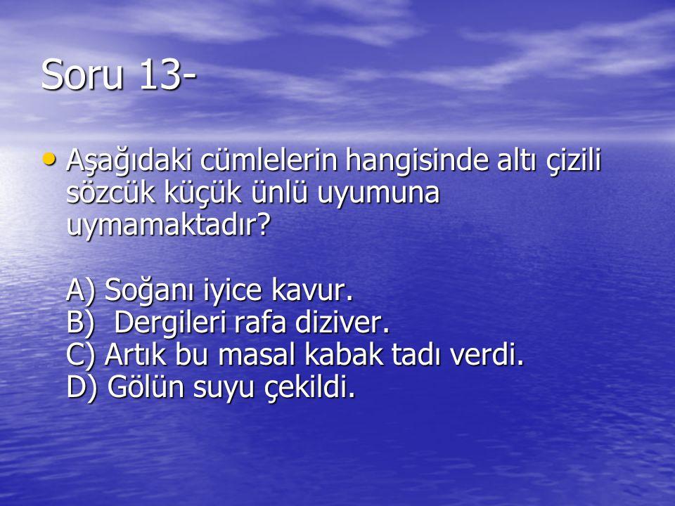Soru 13-