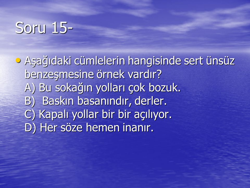 Soru 15-