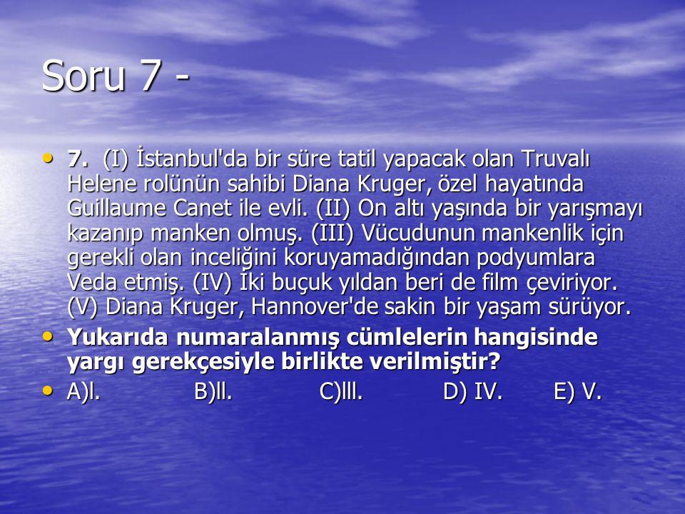 Soru 7 -