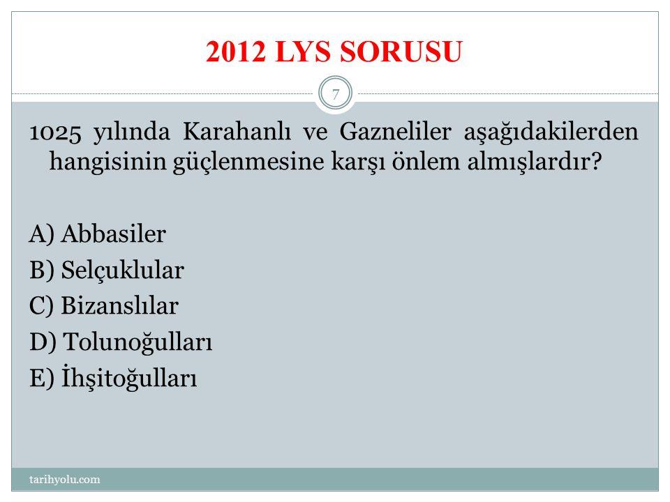 2012 LYS SORUSU