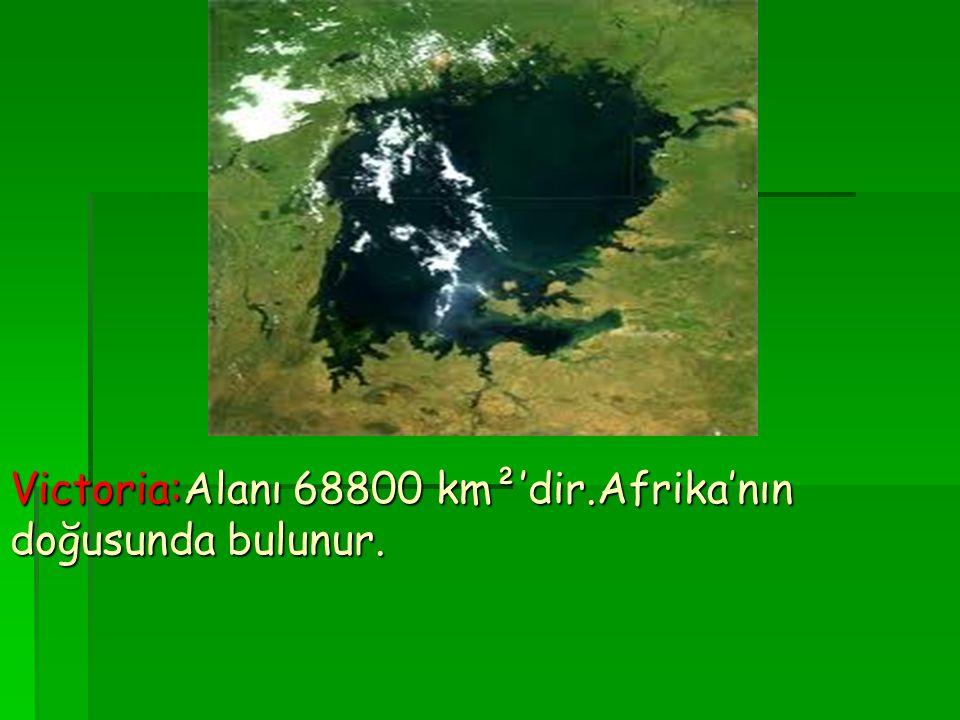 Victoria:Alanı 68800 km²'dir.Afrika'nın doğusunda bulunur.