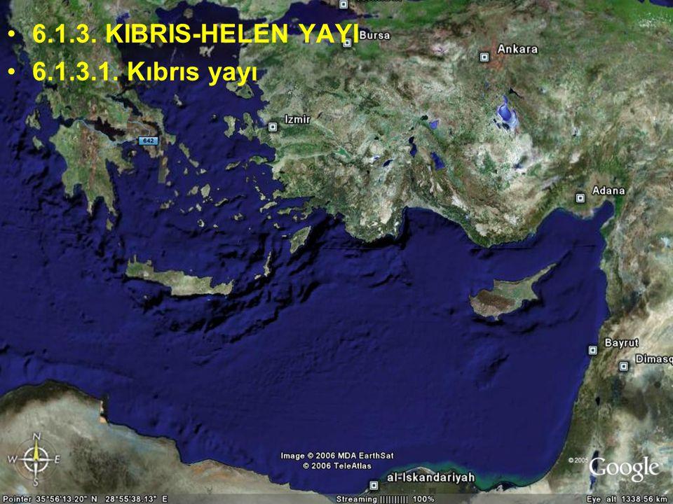 6.1.3. KIBRIS-HELEN YAYI 6.1.3.1. Kıbrıs yayı Doç.Dr. Yaşar EREN