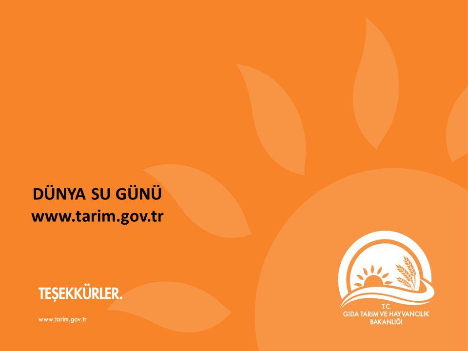DÜNYA SU GÜNÜ www.tarim.gov.tr