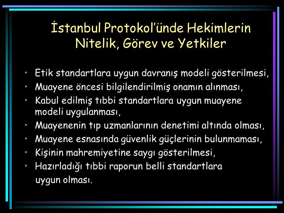 İstanbul Protokol'ünde Hekimlerin Nitelik, Görev ve Yetkiler