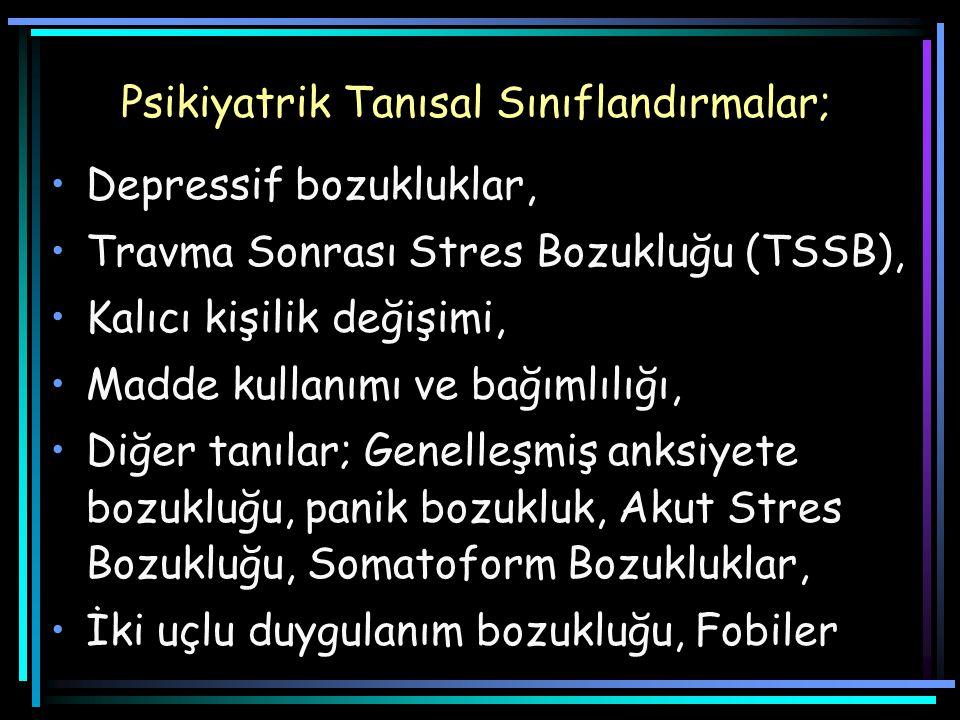 Psikiyatrik Tanısal Sınıflandırmalar;