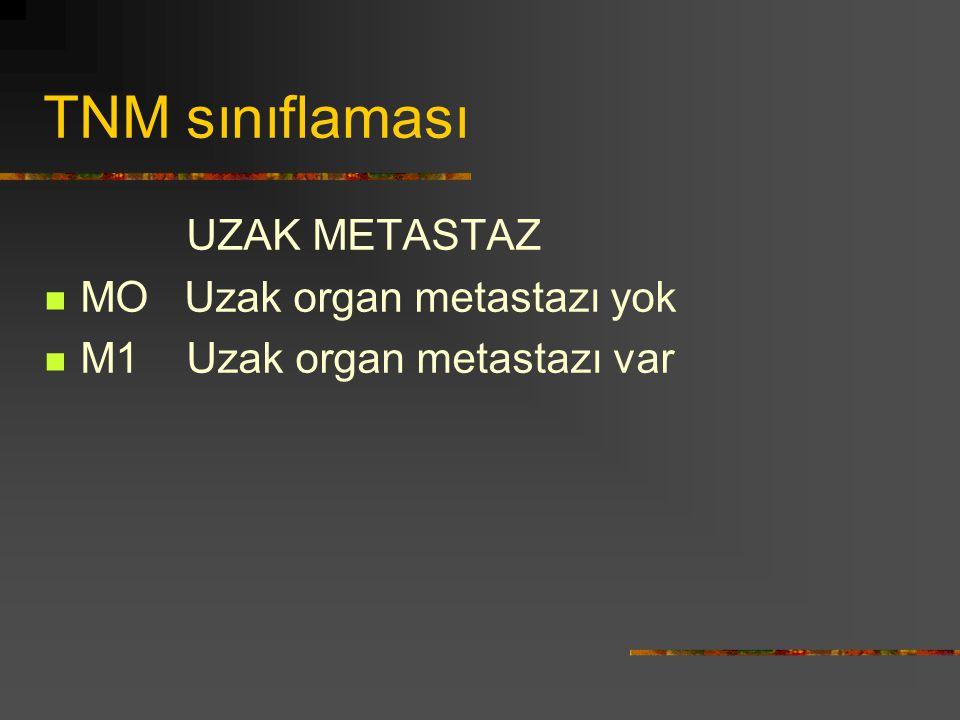 TNM sınıflaması UZAK METASTAZ MO Uzak organ metastazı yok