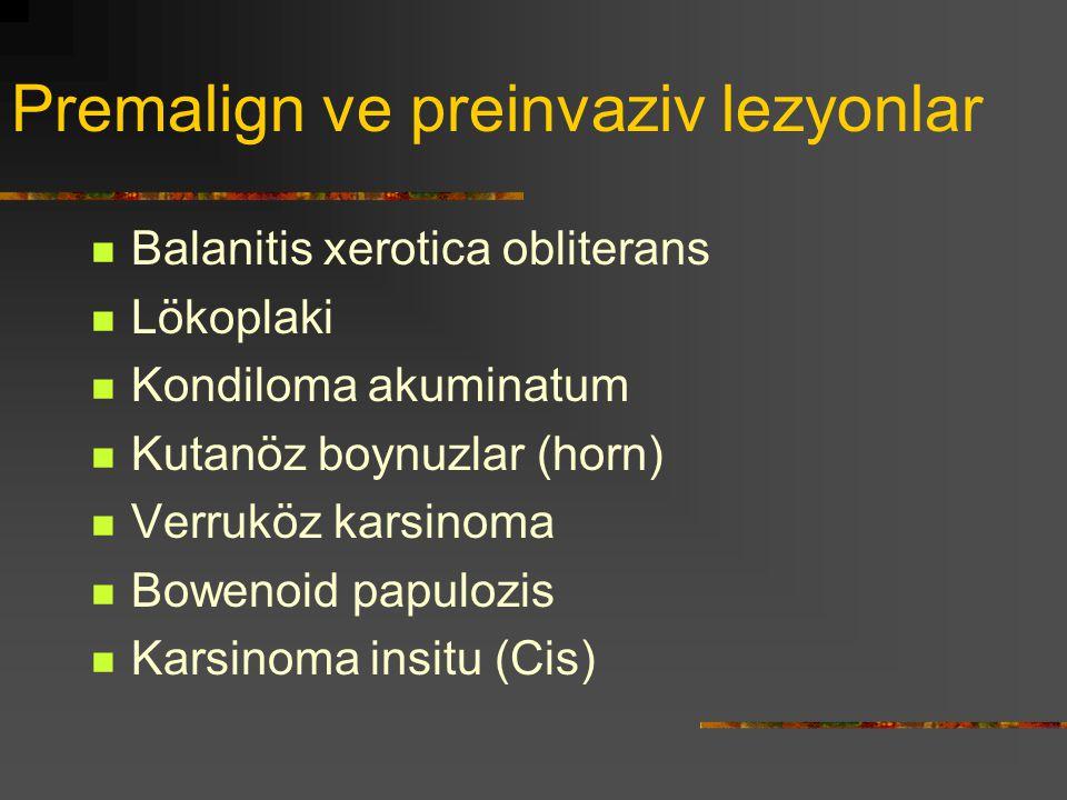 Premalign ve preinvaziv lezyonlar