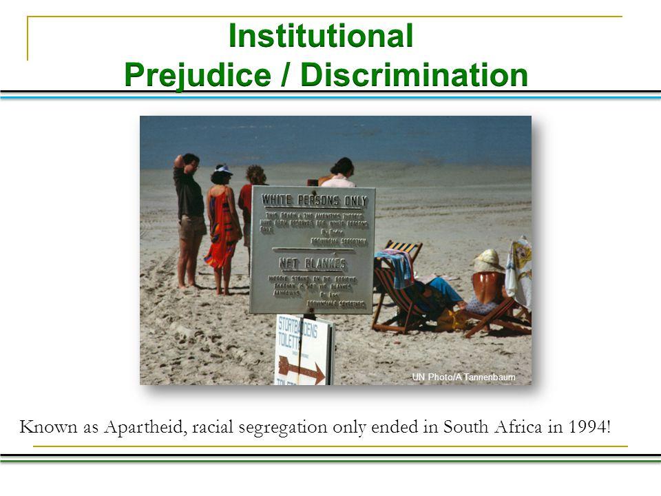 Prejudice / Discrimination