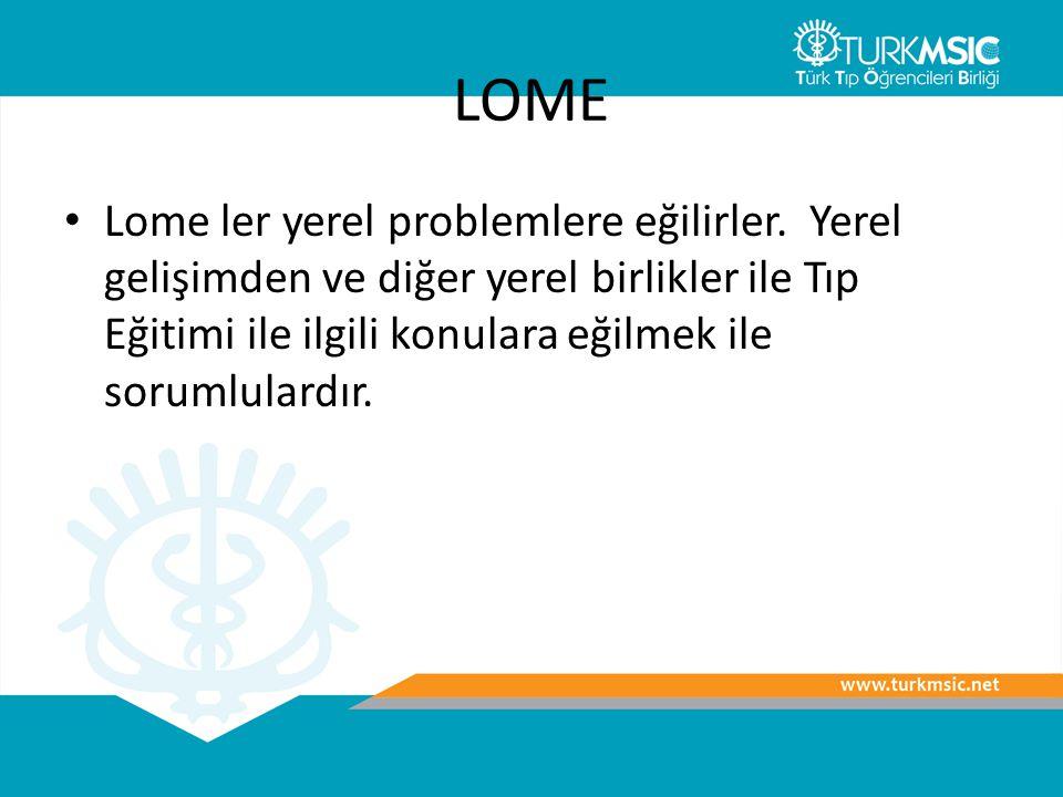 LOME Lome ler yerel problemlere eğilirler.