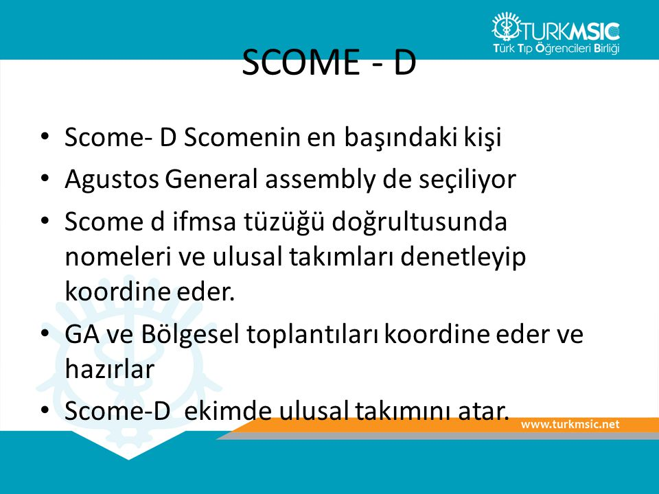SCOME - D Scome- D Scomenin en başındaki kişi