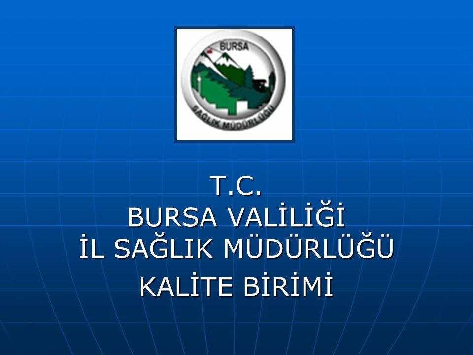 T.C. BURSA VALİLİĞİ İL SAĞLIK MÜDÜRLÜĞÜ KALİTE BİRİMİ