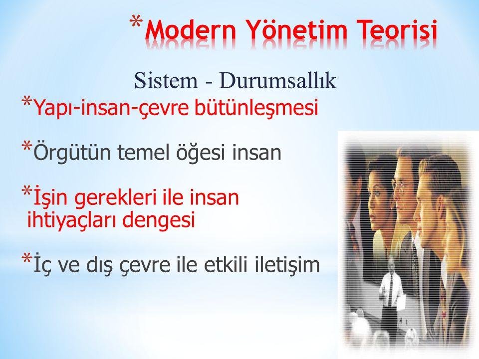 Modern Yönetim Teorisi