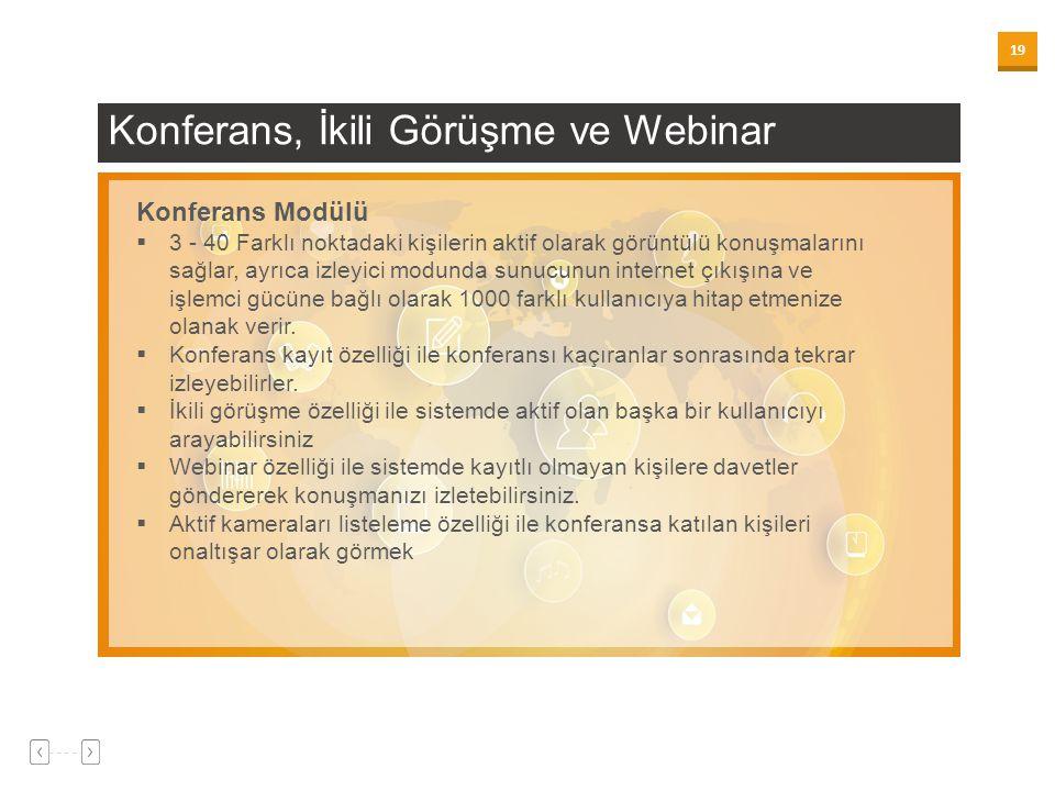 Konferans, İkili Görüşme ve Webinar
