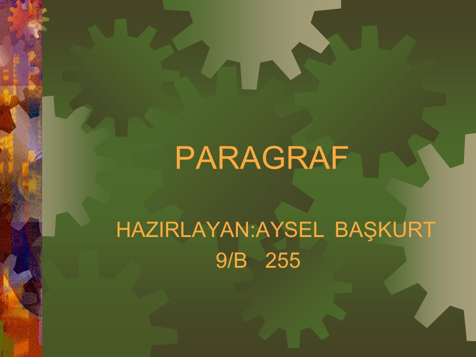 HAZIRLAYAN:AYSEL BAŞKURT 9/B 255