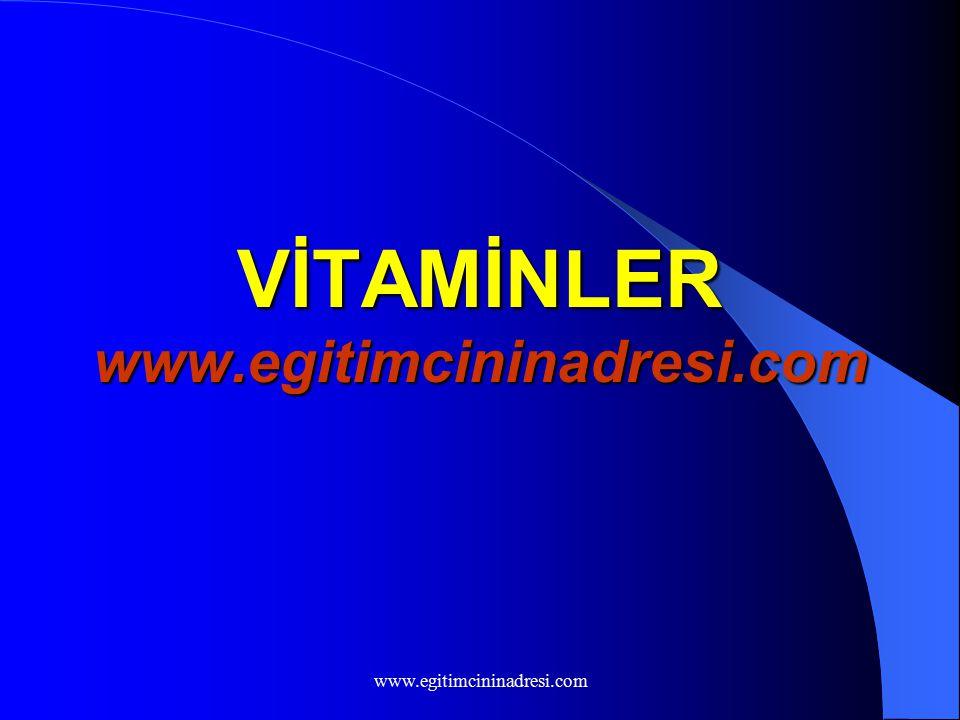VİTAMİNLER www.egitimcininadresi.com