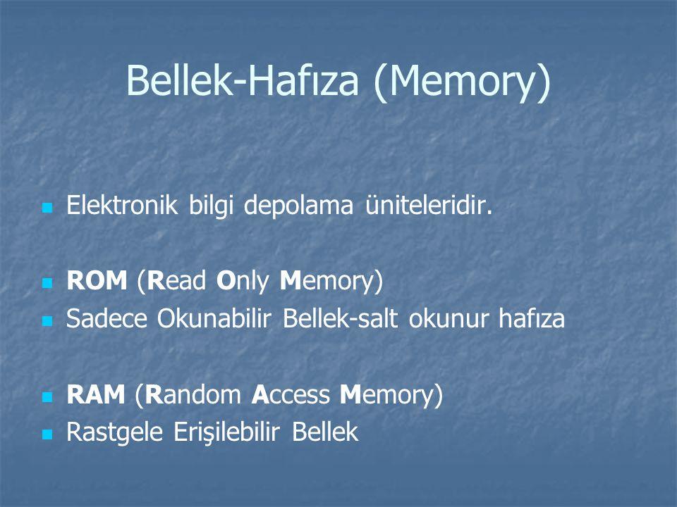 Bellek-Hafıza (Memory)