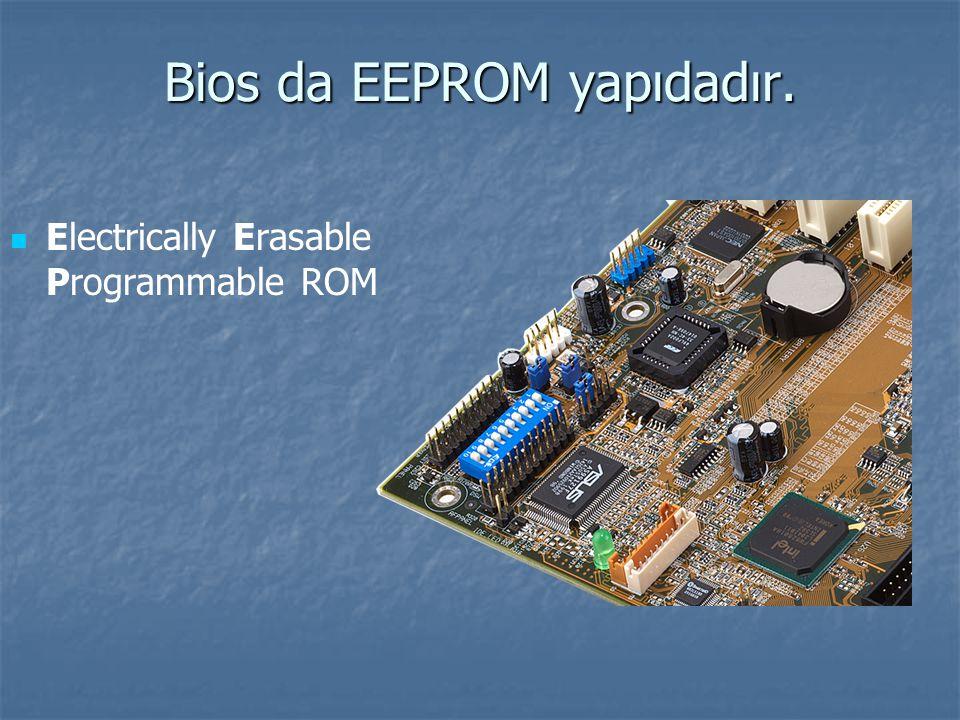 Bios da EEPROM yapıdadır.